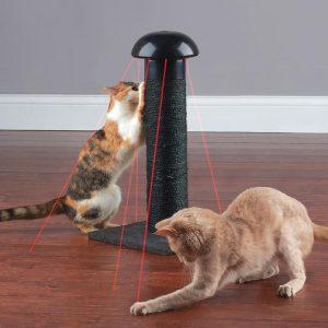 Hammacher Schlemmer Feline's Laser Chasing Scratch Post